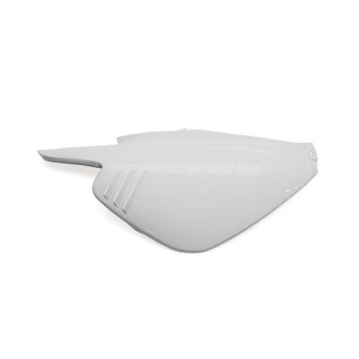 Coque arrière droit blanche brillante adaptable MBK 50 Booster ng/Yamaha 50 BW's ng
