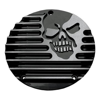 Derby cover Covingtons Harley Davidson Big Twin 99-18 skull usiné noir