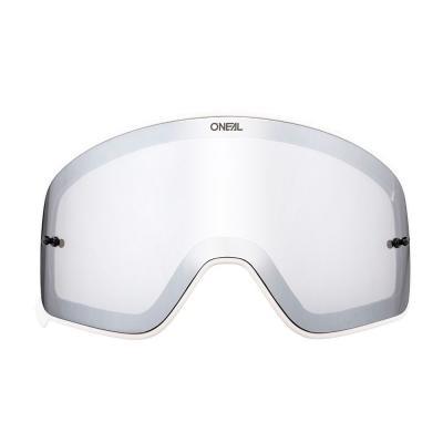 Écran O'Neal pour masque B 50 miroir argent avec cadre blanc