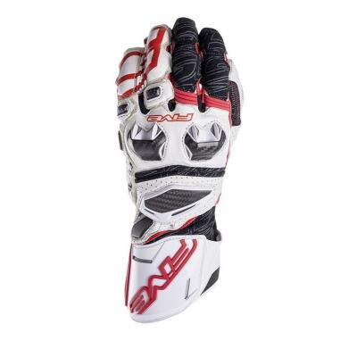Gants Five RFX RACE blanc/rouge