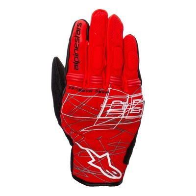 Gants textile Alpinestars Marc Marquez Losail v2 bright rouge/noir