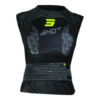 Gilet de protection sans manches enfant Shot Airlight 2.0 noir/jaune (Homologation FFM)