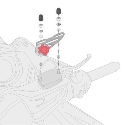 Kit de fixation Givi pour Smart Mount RC S903A Ducati 950 Multistrada 17-18