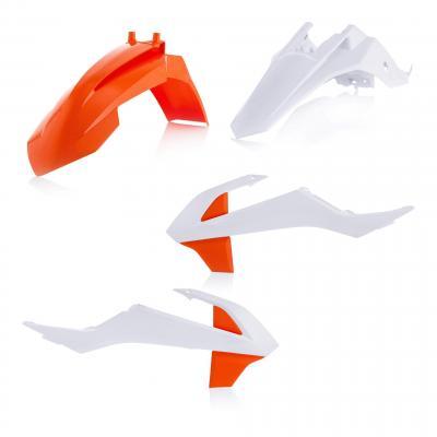 Kit plastique Acerbis KTM 65 SX 16-21 blanc 2/orange 2 (couleur origine 20)