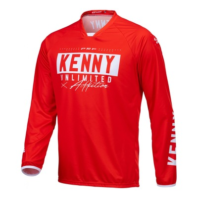 Maillot cross Kenny Performance Solid rouge