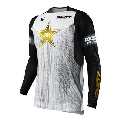 Maillot cross Shot Contact Replica Rockstar 2022 noir/blanc/or
