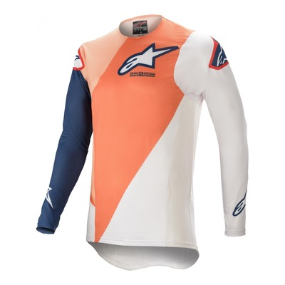 Maillot de cross Alpinestars Supertech Blaze orange/bleu foncé