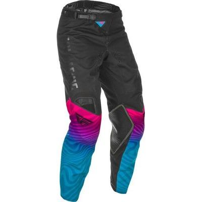 Pantalon cross Fly Racing Kinetic S.E. noir/rose/bleu