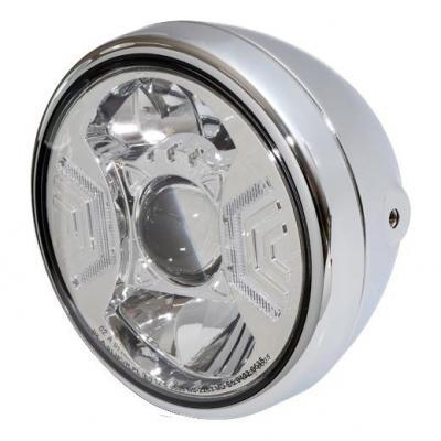 Phare LED Highsider Reno type 2 fixations latérales chromé