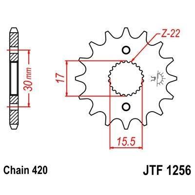 Pignon JT Sprockets Acier pas 420 15 dents - Pour Honda CR 85 R 03-07