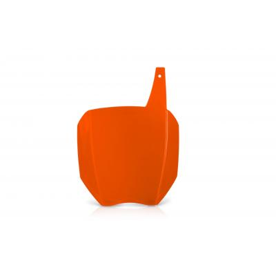 Plaque numéro frontale Acerbis Autographe orange