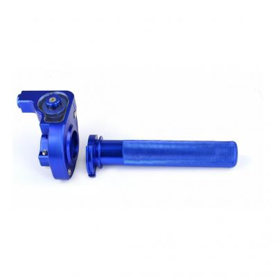 Poignée de gaz Noend tirage horloger alu bleu