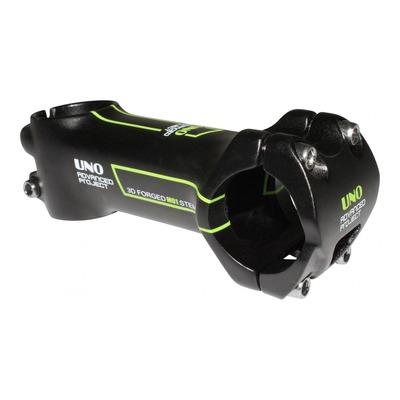Potence VTT/route UNO Race inclinaison -7° L. 90mm noir/vert