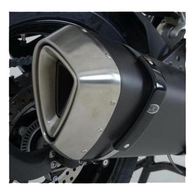 Protection de silencieux R&G Racing noir Aprilia Caponord 1200 13-17