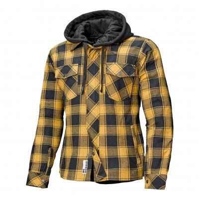 Sur-chemise textile à capuche Held Lumberjack II noir/jaune