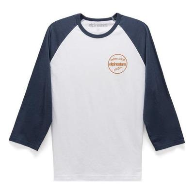 Tee-shirt manches 3/4 Alpinestars Six Three premium blanc/navy