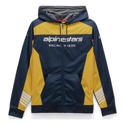 Veste à capuche zippée Alpinestars Sessions II Fleece navy/gold