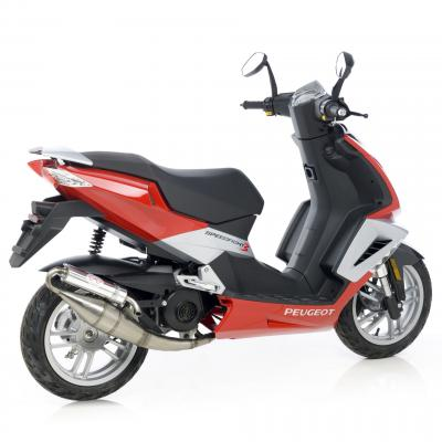 Pot d'échappement scooter Leovince Hand Made TT pour Peugeot Speedfight 3 50 09-11