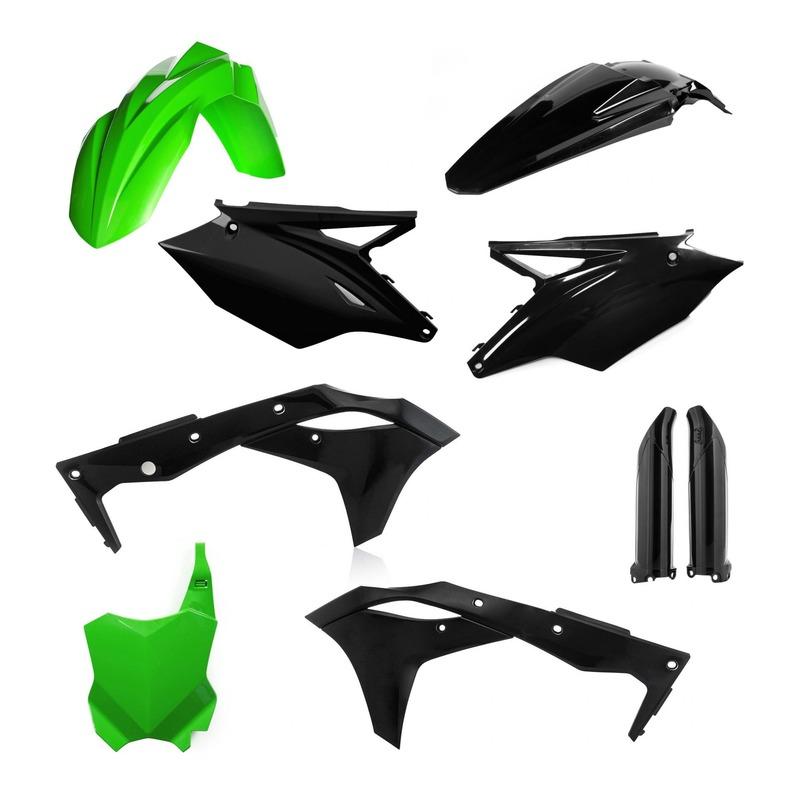 Kit plastiques complet Acerbis Kawasaki 250 KX-F 2018 noir/vert