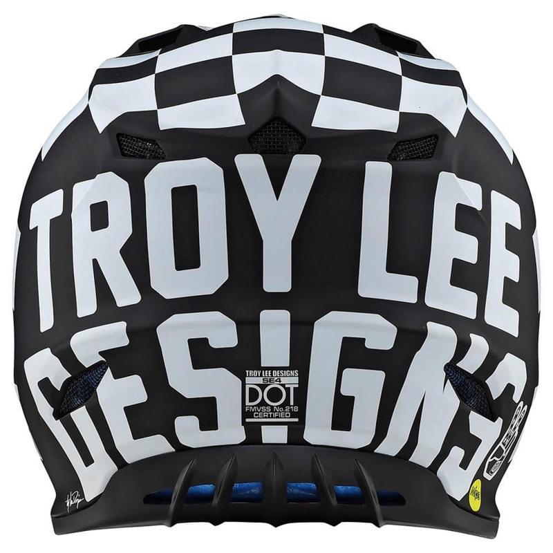 Casque cross Troy Lee Designs SE4 Polyacrylite Checker Mips noir/blanc - 2