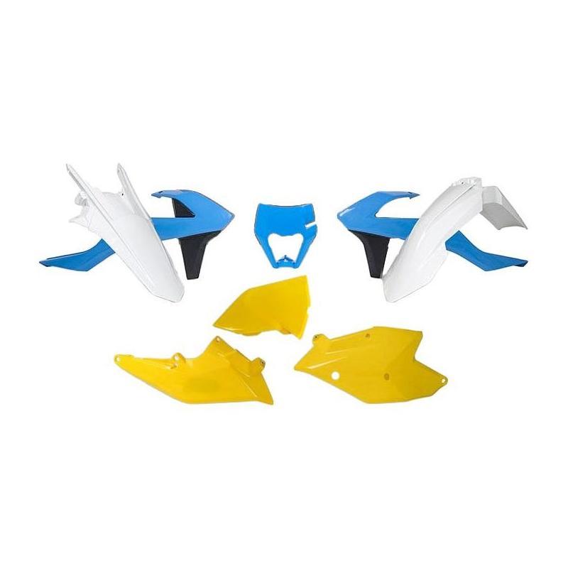 Kit plastique RTech KTM 250 EXC-F 17-19 bleu clair/jaune/blanc