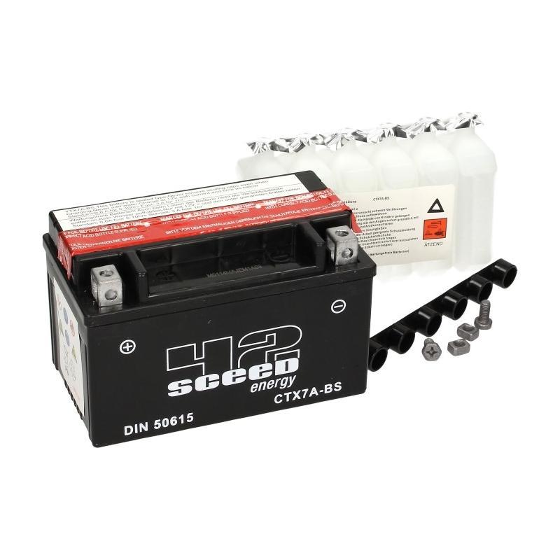 Batterie Sceed 42 YTX7A-BS 12V 6Ah avec pack acide - 2