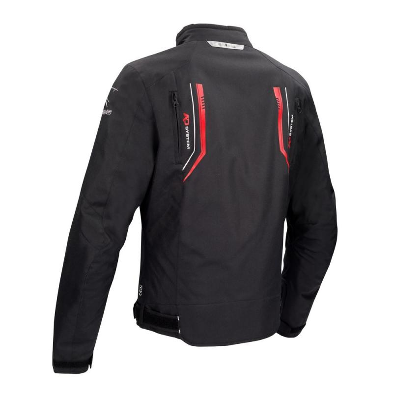 Blouson textile Bering Ross noir/rouge - 1
