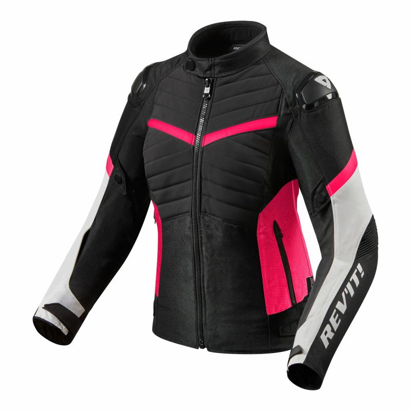 Blouson textile femme Rev'it Arc H2O Ladies noir/fuchsia