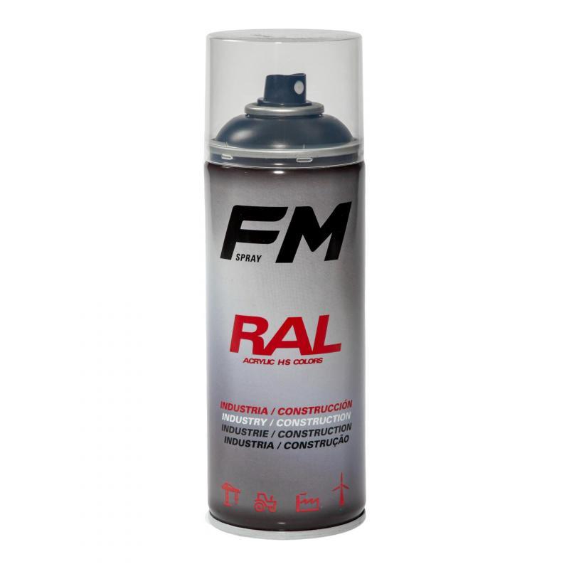 Bombe de peinture FM Spray Pro noir mat 400ml