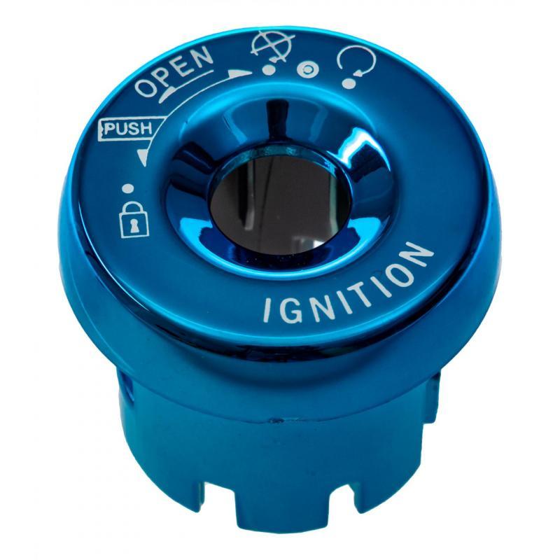 Capuchon de contacteur à clé neiman adaptable pour Nitro Booster 04 Ovetto bleu