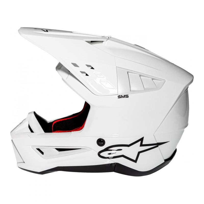 Casque cross Alpinestars S-M5 Solid blanc brillant - 1