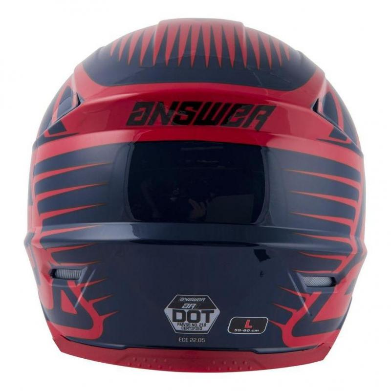 Casque cross Answer AR1 Edge midnight/bright red - 5