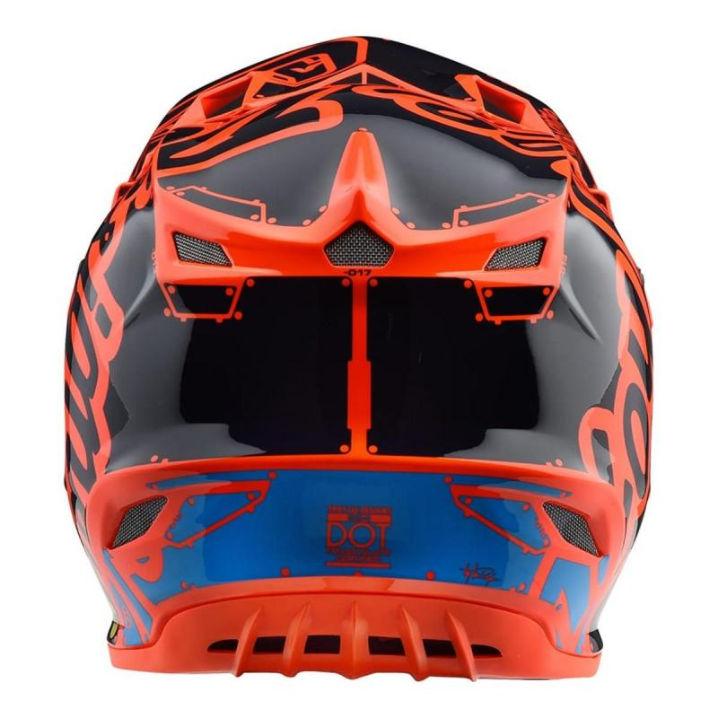 Casque cross enfant Troy Lee Designs SE4 Polyacrylite Factory orange - 1