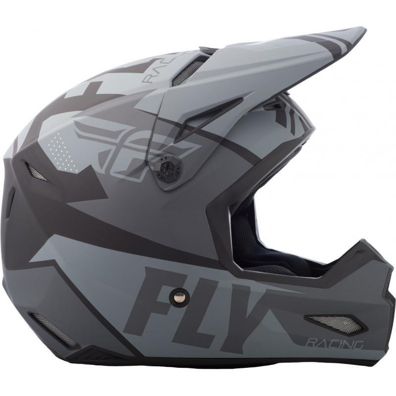 Casque cross Fly Racing Elite Guild gris/noir - 1