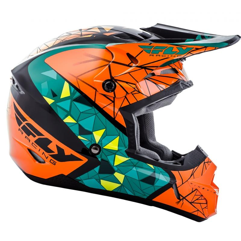 Casque cross Fly Racing Kinetic Crux orange/bleu/noir - 1