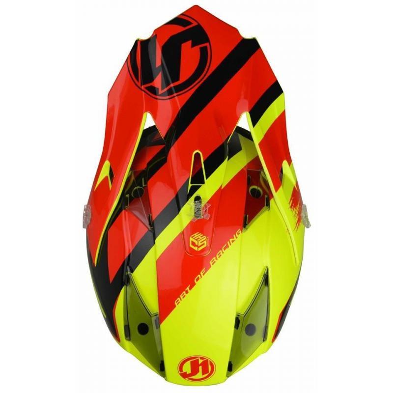 Casque cross Just1 J32 Pro Kick noir / rouge / jaune - 2