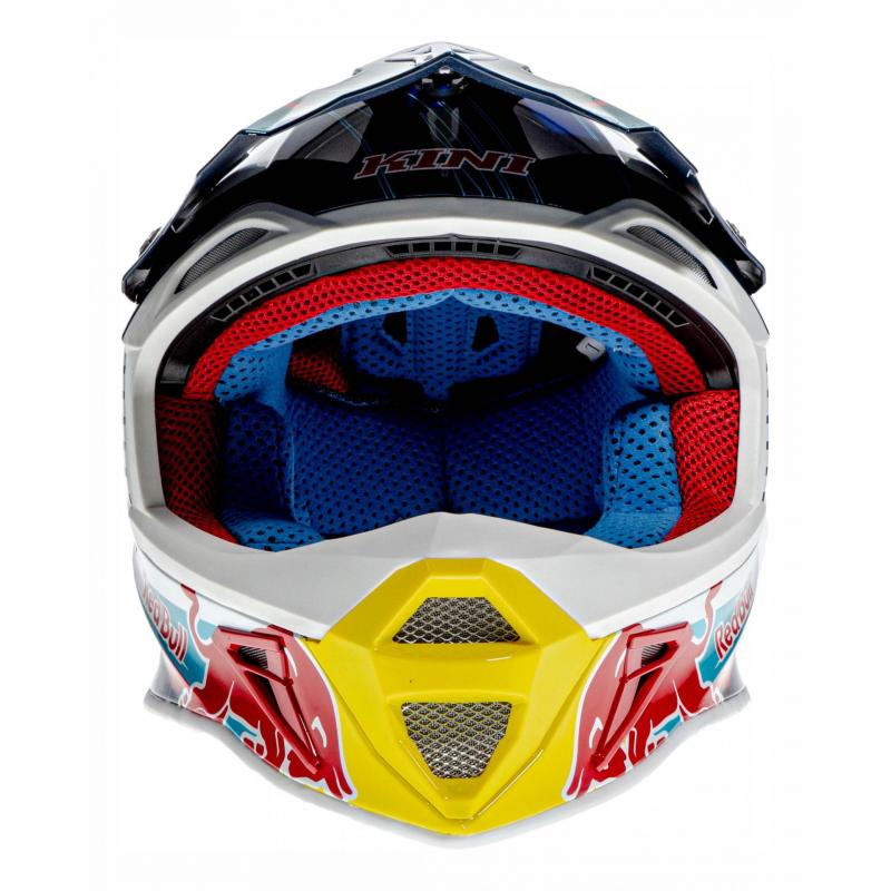 Casque cross Kini Red Bull Competition bleu marine - 3