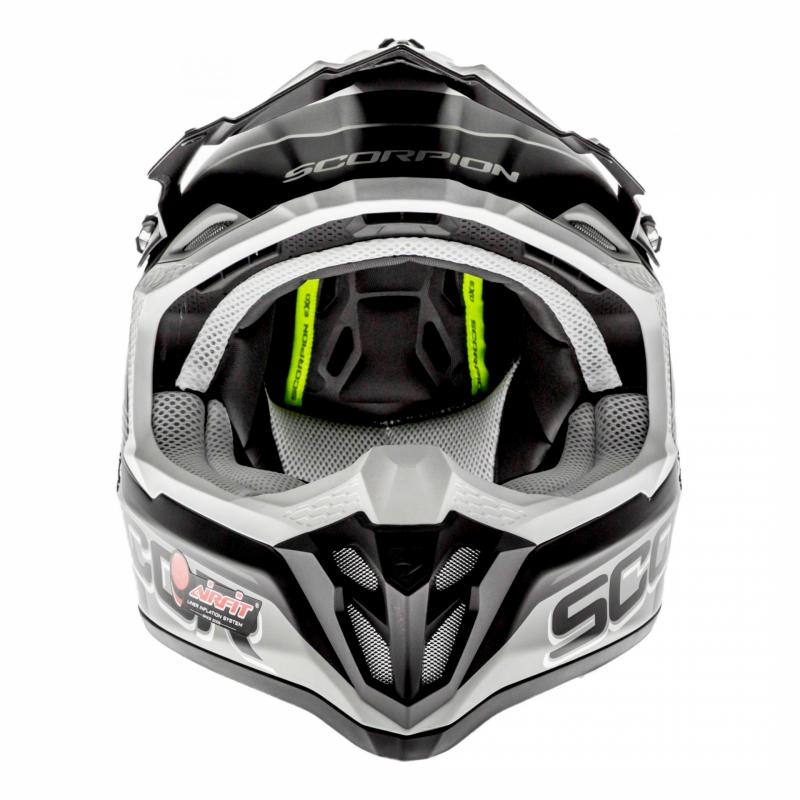 Casque cross Scorpion VX-16 Air Arhus Mat argent/noir/jaune fluo - 3
