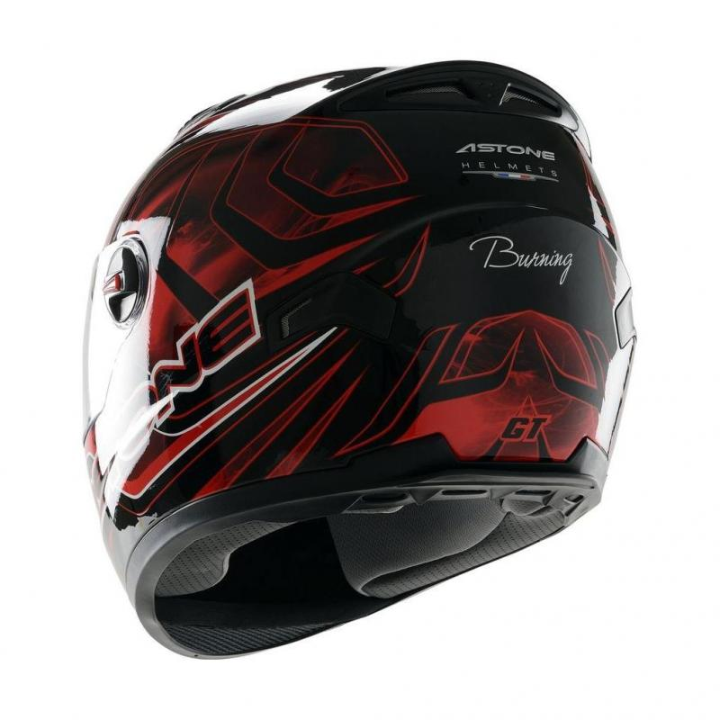 Casque Intégral Astone Gt Graphic Exclusive Burning rouge - 2