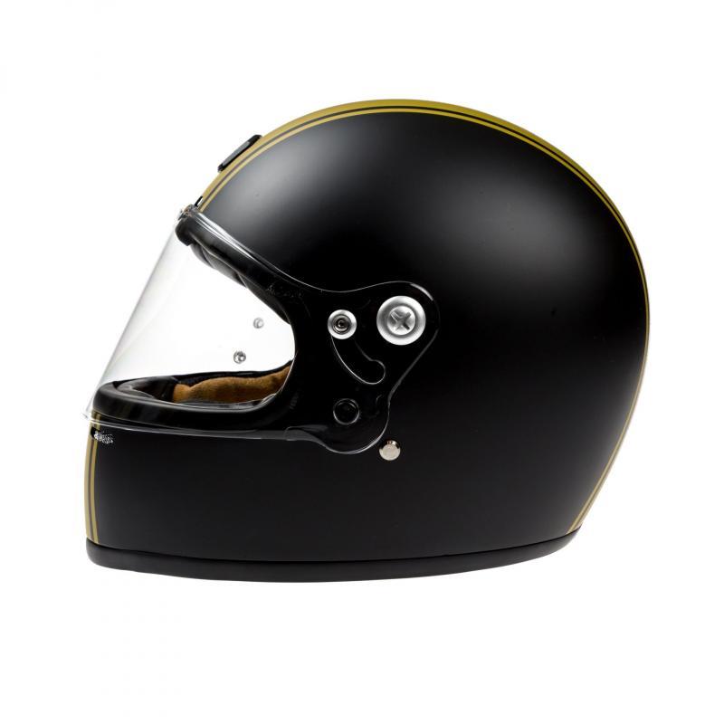 Casque intégral Astone VINTAGE GT RETRO mat noir/or - 1