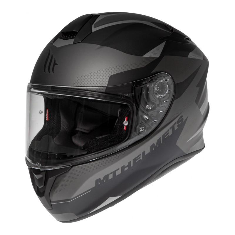 Casque intégral MT Helmet Targo Enjoy gris mat