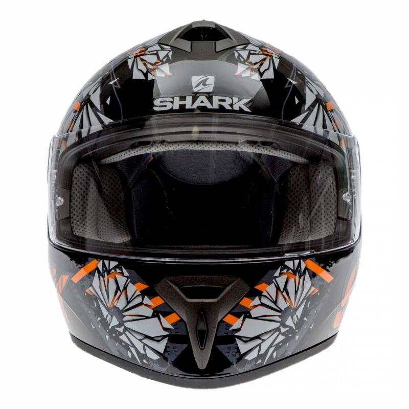 Casque intégral Shark S600 PINLOCK POONKY noir/orange/anthracite - 3