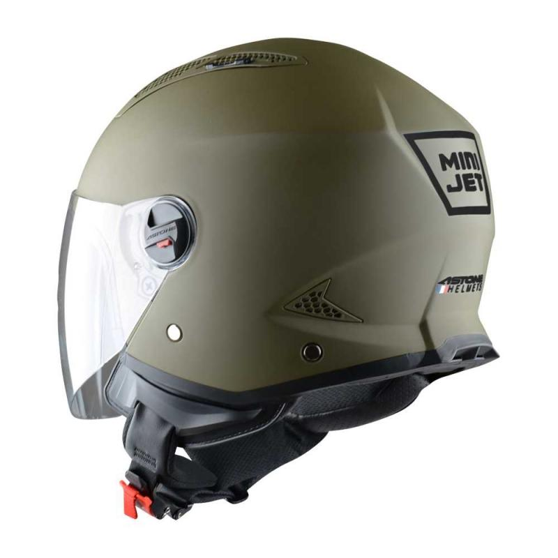Casque Jet Astone Minijet Monocolor Army - 1