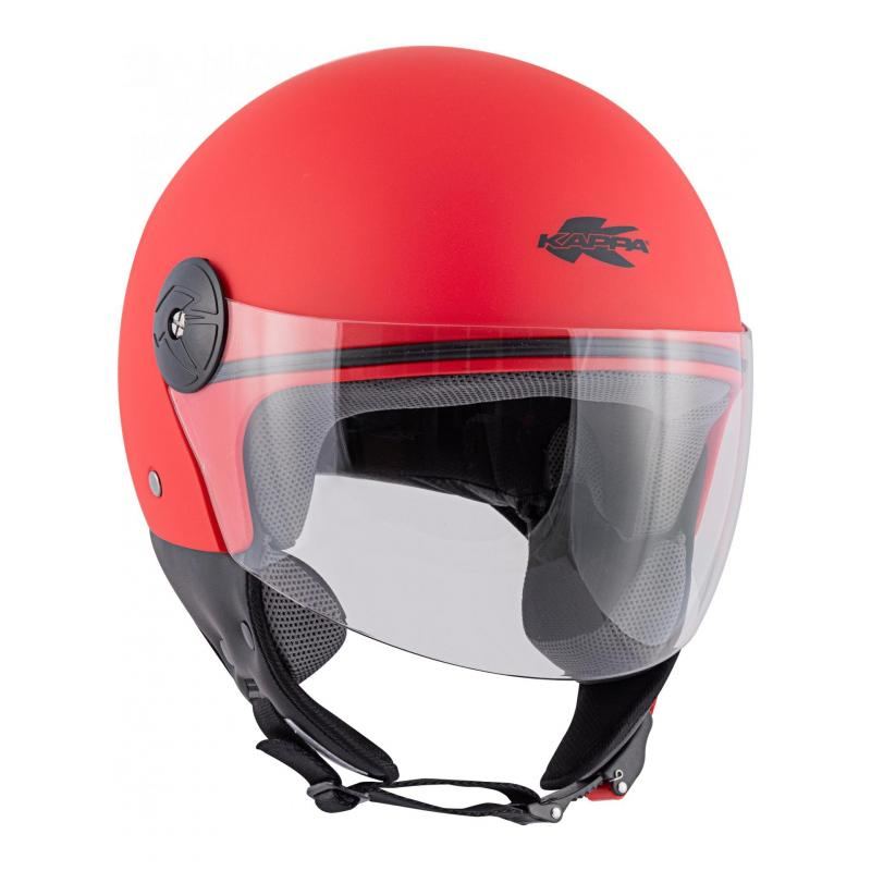 Casque jet Kappa KV40 Hawaii Basic rouge mat - 3