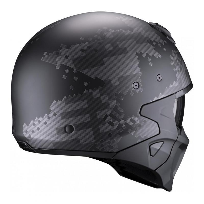 Casque jet Scorpion Covert-X Xborg noir/argent mat - 1