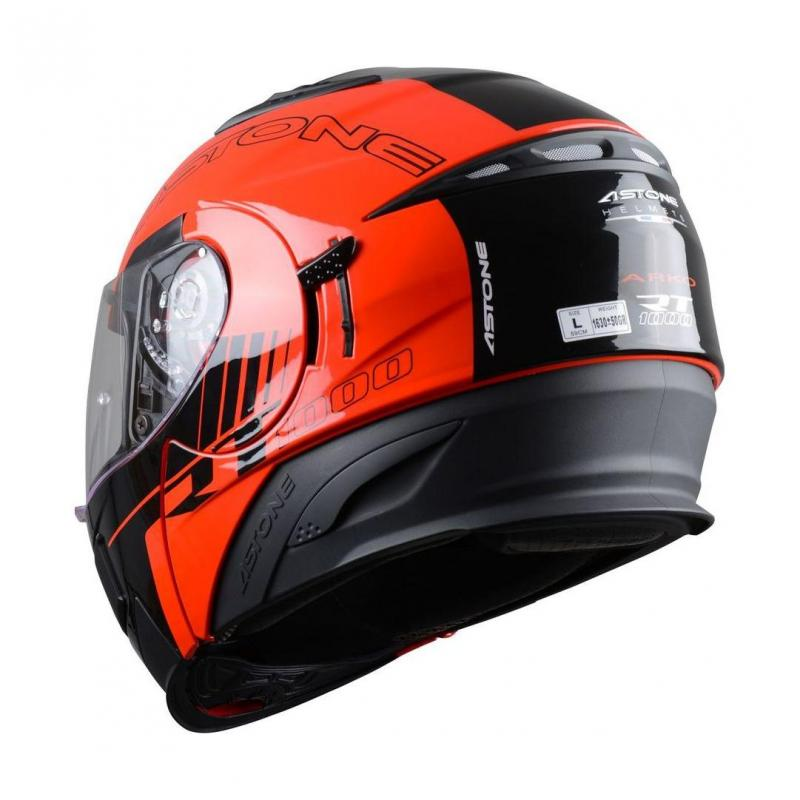 Casque Modulable Astone Rt 1000 Graphic Exclusive Arko noir/rouge - 2