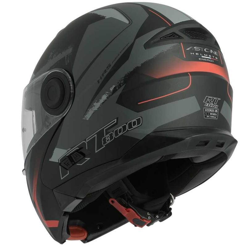 Casque modulable Astone RT800 exclusive ENERGY mat noir/rouge - 2