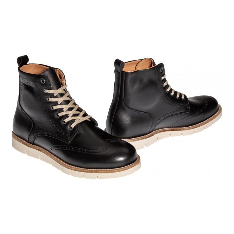 Chaussures moto Helstons Holey Cuir Aniline noir