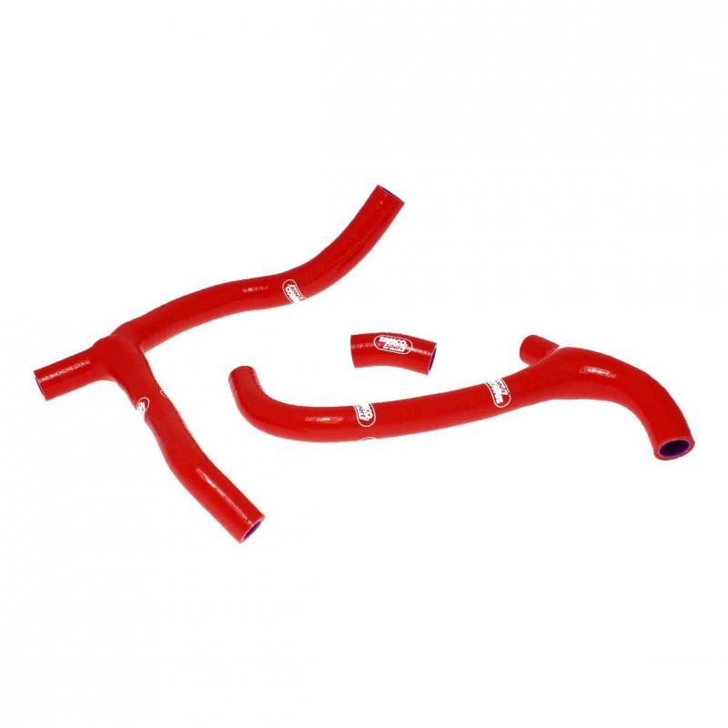 Durites de radiateur Samco Sport kit transformation en Y Honda CRF 450R 09-12 rouge (3 durites)
