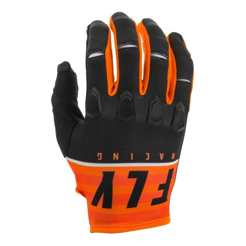Gants cross Fly Racing Kinetic K120 orange/noir/blanc